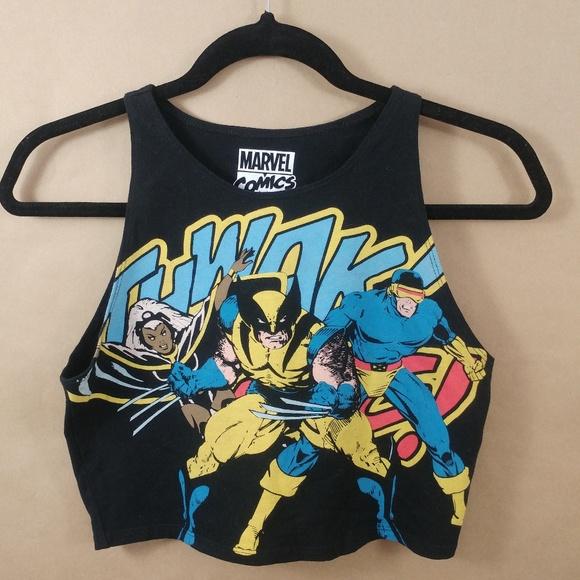 a3984a9f581c1 Forever 21 Tops - X-Men Crop Top (L) Marvel Comics